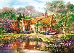 Горска къщичка до езерото - пъзел