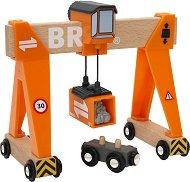 Подемен кран - Детска дървена играчка - творчески комплект