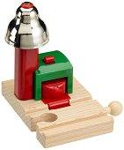 Магнитен сигнализиращ звънец - Детска играчка за разширение на релсов път - играчка