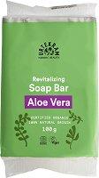 """Urtekram Aloe Vera Soap Bar - Възстановяващ био сапун за ръце и тяло от серията """"Aloe Vera"""" - продукт"""