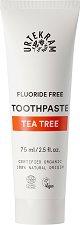 Urtekram Tea Tree Toothpaste - Паста за зъби с масло от чаено дърво, без флуорид - пинцета