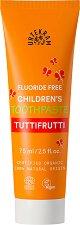 Urtekram Tuttifrutti Children's Toothpaste - Детска паста за зъби с плодов вкус, без флуорид - крем