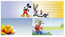 Етикети за тетрадки - Disney -