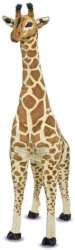 Жираф - Плюшена играчка с височина 137 cm -