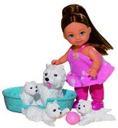 """Еви с кученца - Кукла от серията """"Steffi Love"""" -"""