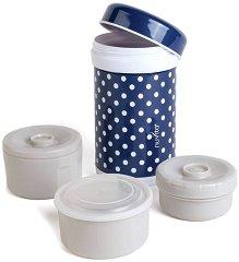 Термо-контейнер за храна - 1200 ml - Комплект с 3 вътрешни съда за бебета над 6 месеца - продукт