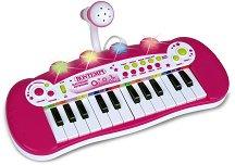 Електронен синтезатор с 24 клавиша и микрофон - играчка