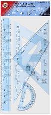 Чертожни инструменти с формули - Комплект от 4 части