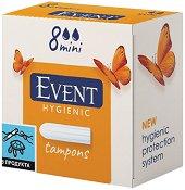 Дамски тампони - Event Mini - Опаковки от 8 ÷ 16 броя - ножичка