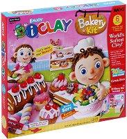"""Забавна глина за моделиране - Сладкарница - Творчески комплект от серията """"I Clay"""" - играчка"""