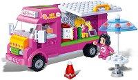 """Микробус за сладолед и разхладителни напитки - Детски конструктор от серията """"Trendy City"""" - играчка"""