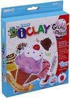 """Забавна глина за моделиране - Сладолед - Творчески комплект от серията """"I Clay"""" -"""