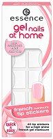 """Стикери за френски маникюр - Опаковка от 40 броя от серията """"Gel nails at home"""" - продукт"""