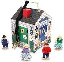 Къща със звънци - Детска дървена играчка -
