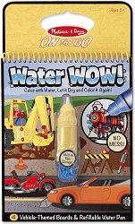 Блокче за оцветяване с вода - Превозни средства - Комплект за многократна употреба - играчка