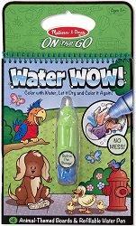 Блокче за оцветяване с вода - Животни - Комплект за многократна употреба - играчка