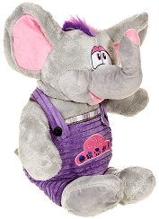 Слонче с гащеризон - Плюшена играчка - играчка