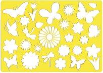 Фигурален шаблон - Цветя и пеперуди