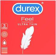 Durex Feel Ultra Thin - Презервативи в опаковка от 3 броя -