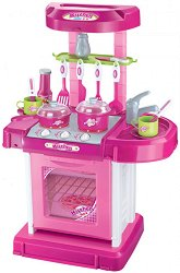 Детска кухня - My Kitchen - Със звукови ефекти и аксесоари - кукла