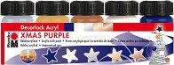 Акрилни бои с гланцов ефект - Xmas Purple - Комплект от 5 цвята x 15 ml