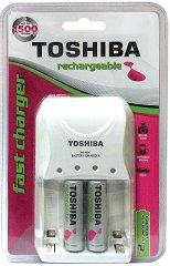 Зарядно за NiMH батерии - Комплект с акумулаторни батерии тип АА 2000 mAh -