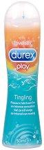 Durex Play Tingling - Интимен лубрикант с изтръпващ ефект - душ гел