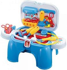 Детски лекарски кабинет - Комплект с инструменти и консумативи - играчка