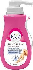 Veet Silk & Fresh - Крем депилатоар за чувствителна кожа в комплект с шпатула - спирала