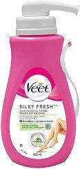 Veet Silk & Fresh - Крем депилатоар за нормална и суха кожа в комплект с шпатула -