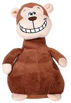 Маймунка - Усмихни се - Плюшена играчка със звуков ефект - творчески комплект