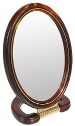 Двустранно огледало със стойка - крем