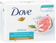 """Dove Go Fresh Restore whit Blue Fig & Orange Blossom Scent Soap - Крем сапун с аромат на смокиня и портокалов цвят от серията """"Go Fresh - Restore"""" - сапун"""