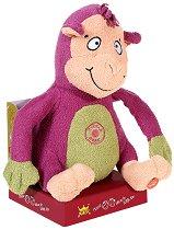 Музикална маймунка - Погали ме по коремчето - Танцуваща и пееща плюшена играчка -