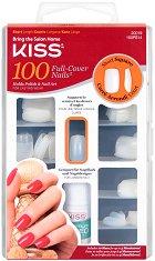 Изкуствени нокти с квадратна форма - Short Square - Комплект от 100 броя нокти и лепило -