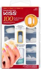Изкуствени нокти с овална форма - Active Oval - Комплект от 100 броя нокти и лепило -