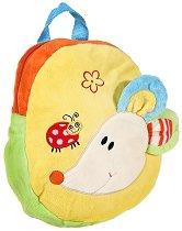 Детска плюшена раница - Мишле - образователен комплект
