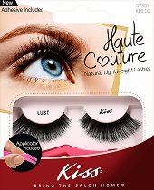 Мигли от естествен косъм - Haute Couture Lust - В комплект с лепило и апликатор - фон дьо тен