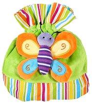 Детска плюшена раница - Пеперуда - играчка