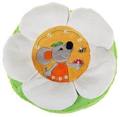 Кръгла плюшена възглавничка - Маргаритка - играчка