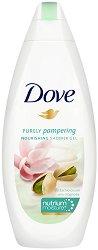 Душ гел - Dove Pistachio & Magnolia - С аромат на магнолия и шамфъстък - продукт