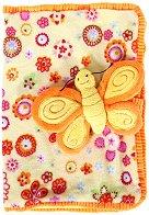 Приказна плюшена подвързия с тетрадка - Пеперуда - играчка