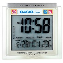 """Настолен часовник Casio - DQ-750F-7 - От серията """"Wake Up Timer"""""""