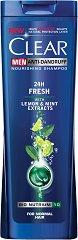Clear Men Anti-Dandruff 24 Hours Fresh - Шампоан против пърхот за мъже с екстракти от лимон и мента - пяна