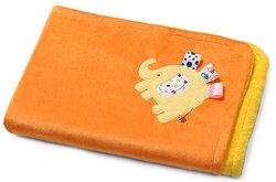 Детско микрофибърно одеяло с 3D апликация - Слонче - Размер 75 x 100 cm - продукт