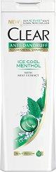 Clear Anti-Dandruff Ice Cool Menthol - Освежаващ шампоан против пърхот с ментол -