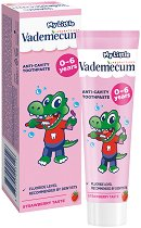 My Little Vademecum Strawberry Toothpaste - Детска паста за млечни зъби с вкус на ягода - паста за зъби