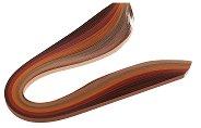 Квилинг ленти - кафеви - Комплект от 100 броя с плътност 130 g/m : 2 :