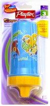 Чаша в син и оранжев цвят с твърд накрайник - 266 ml - За бебета над 12 месеца - чаша