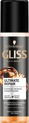 "Gliss Ultimate Repair Express Repair Conditioner - Спрей балсам без отмиване за суха и увредена коса от серията ""Ultimate Repair"" - масло"